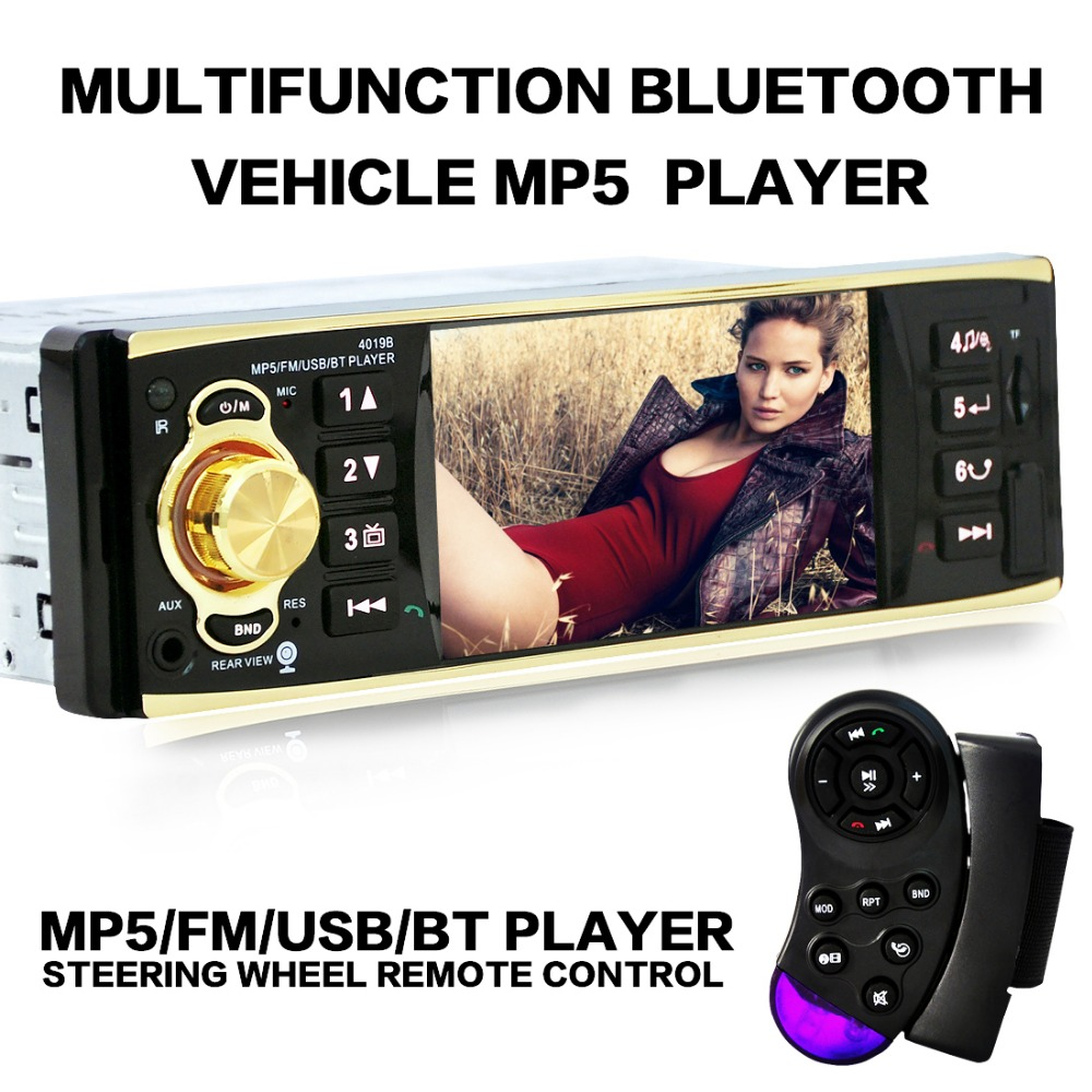 Free shipping bluetooth 4.1 TFT screen car audio stereo mp5 player with mp3 USB SD Aux-in support WMA /OGG/APE/AAC/FLAC/WAV