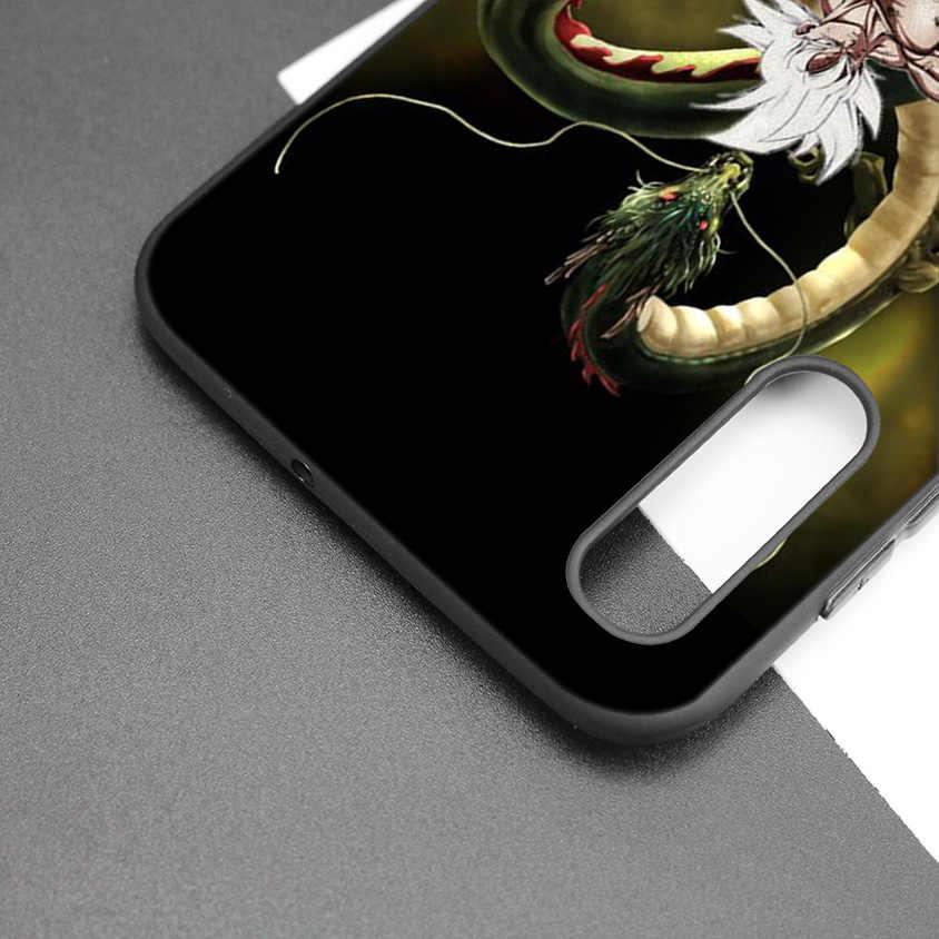 Funda de silicona negra oscura de dibujos animados para Samsung Galaxy A50 A30 A10 M30 funda blanda de móvil carcasa de Dragon Ball DragonBall z goku