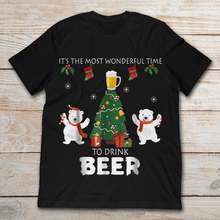 Это самое замечательное время чтобы пить пиво забавная Рождественская