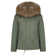 RR Real Rabbit Fur Lining Parkas Women Winter Fashion Genuine Raccoon Fur Collar Hooded Coat Woman Warm Solid Jacket Female