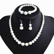 Clásico de Cristal de Shambhala Simulado Joyería de Perlas Nupcial Conjuntos Mujer Conjuntos Collar Pendientes Pulsera Bijoux Accesorios de Boda
