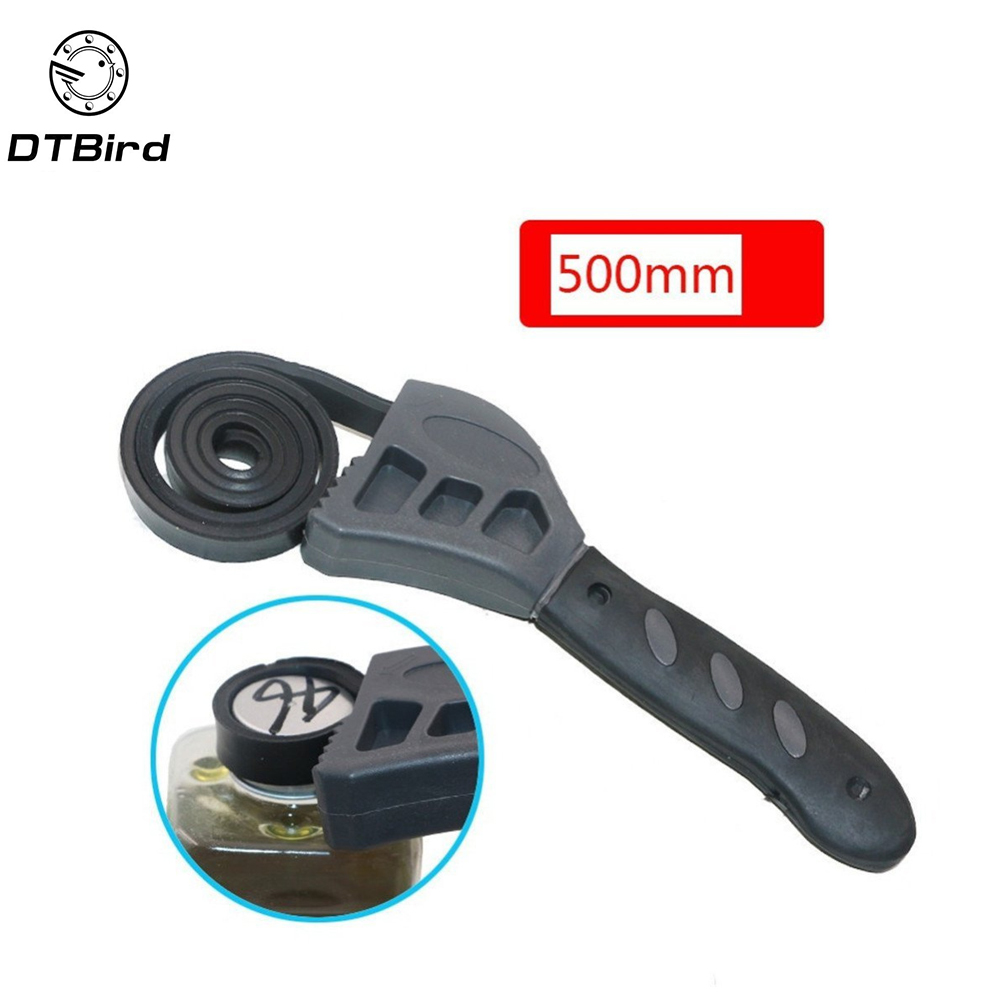 Car Repair Multi-function 500mm Universal Wrench Black Rubber Strap Adjustable Spanner For Any Shape Opener Hand Tools  DT6