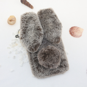 Image 2 - Rabbit Fur Cases For Samsung Galaxy A10 A20 A30 A40 A50 A70 M10 M20 M30 s10e s10 Plus 5G a80 a90 A01 S20 Ultra Note 20 Pro Cover