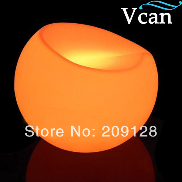 цены RGB rechargeable battery colours change control by remote  LED light Sofa like apple seat to outdoor indoor VC-S5647