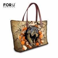 Fashion Pattern Women Casual Tote Bags Ladies Cute Animal Dinosaur Designer Handbags Gilr S Lager Vintage
