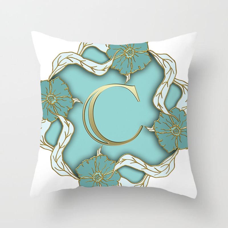 26 Alphabet Gold Letter Pillow Cover Best Children's Lighting & Home Decor Online Store