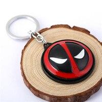 Deadpool Mask keychain Rotatable 3