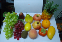 סט פירות מלאכותי כמו חיים פירות מזויפים בית מטבח לימון המפלגה דקו אפל אפרסק בננת מנגו
