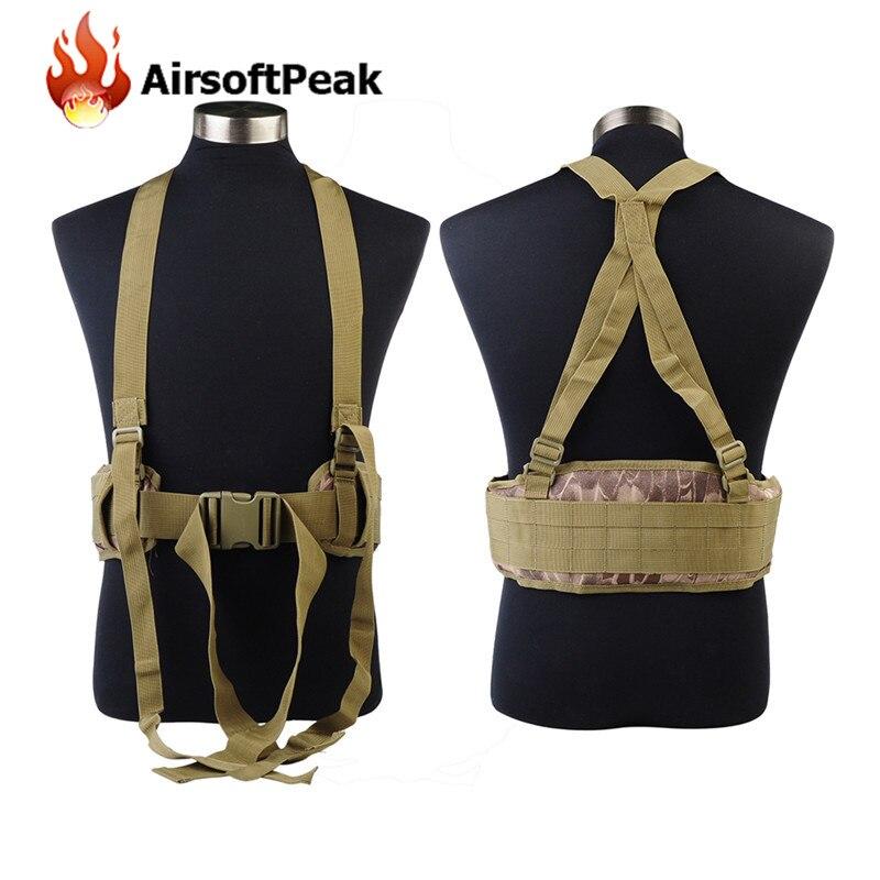 Prix pour Militaire Chasse Tir Wargame Molle Durable Réglable Tactique Ceinture Bretelles Hommes Vêtements Accessoires Sport En Plein Air