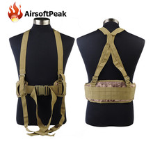 Military Hunting Shooting Wargame Molle Durable Adjustable Tactical Belt Suspenders Men font b Clothing b font