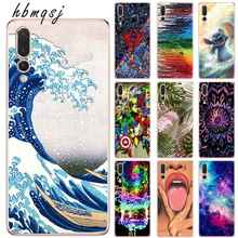 Silicone soft tpu for huawei p8 p9 p10 lite 2017 p20 pro  p20 lite case cartoon surf cool for huawei p20 mobile phone back cover все цены