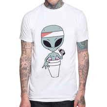 2019 Hot Sale Fashion Funny Alien Design Men T-shirt Short Sleeve Cotton Extraterrestrial Printed Man T Shirts Casual Mens Tops