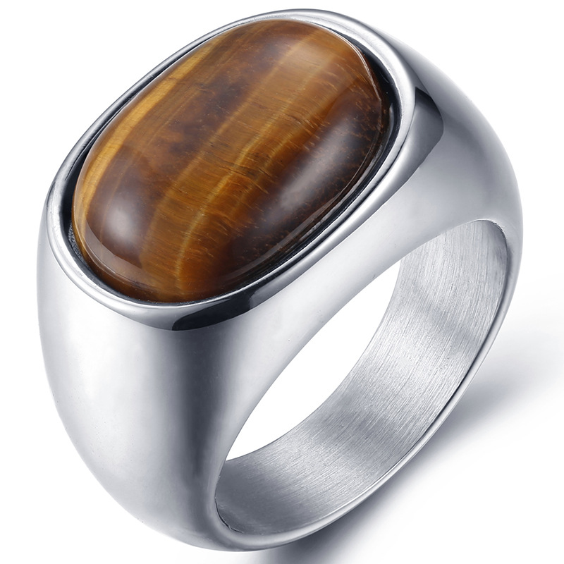 Charmory Wedding bands fashion ring made of stainless steel in gray for both man and women Beauty and jewelry