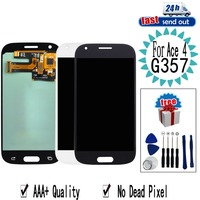 AMOLED G357 LCD For SAMSUNG Galaxy Ace 4 SM G357 LCD Display G357FZ Ace4 Touch Screen Tested Digitizer Assembly