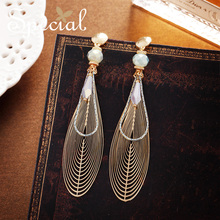 Special Europe and the United States S925 Tremella Needle ear Ring woman with two nails without clip Susan drifting