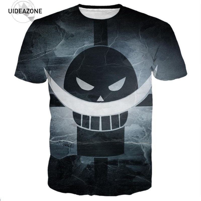 Whitebeard Pirates One Piece T Shirt T-shirt Men Women 2018 Summer New Fashion Brand Clothing Tshirt 3D Graphic Tops Tees