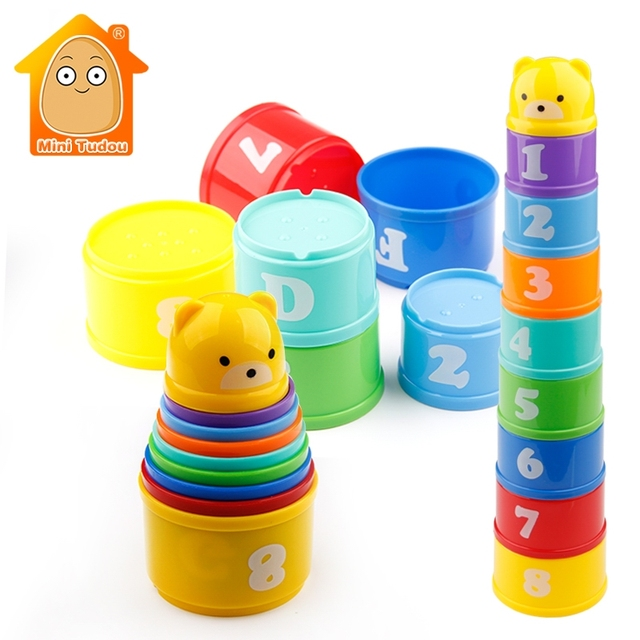 8PCS Educational Baby Toys Stack Cups