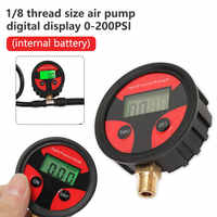 0-200PSI Car Truck Bike Auto Car Tyre Tire Air Pressure Gauge Dial Meter Tester Copper+Rubber Digital Tire Pressure Gauge Tool