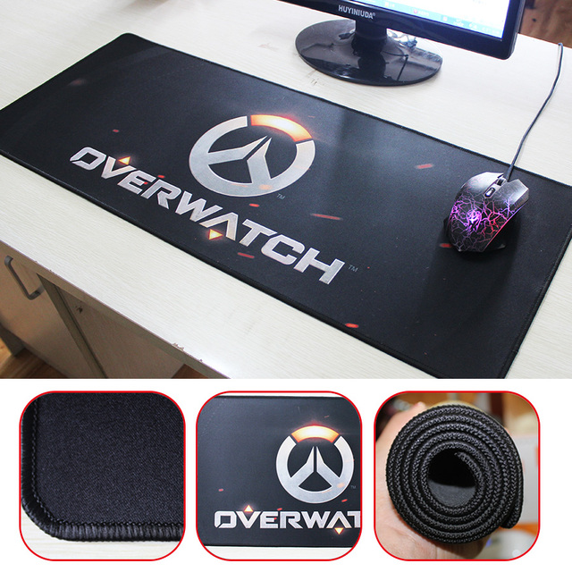 750x300mm Overwatch Gaming Mouse Pad Locking Edge Laptop Tables Mats Non Slip