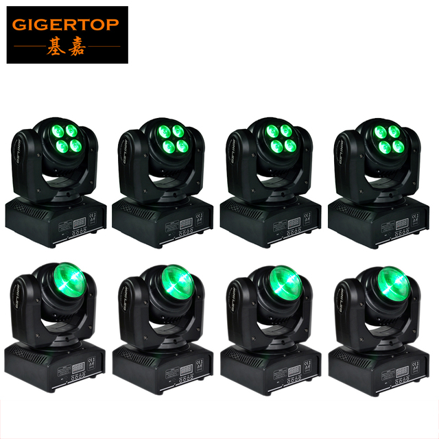 Freeshipping 8xLOT DMX512 Led Double Side Beam Wash Moving Head Light Mini  Size For Party Disco
