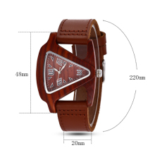ALK bamboo triangle colorful Women wood wrist watch ladies wooden watches 2019 leather strap female male quartz wristwatch saati