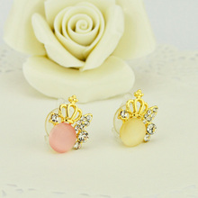 10pcs Fashion Diamond Crown Bling Dust Plug Headset Stopper Cap for iPhone 7 plus Samsung S8 C9 Huawei P10