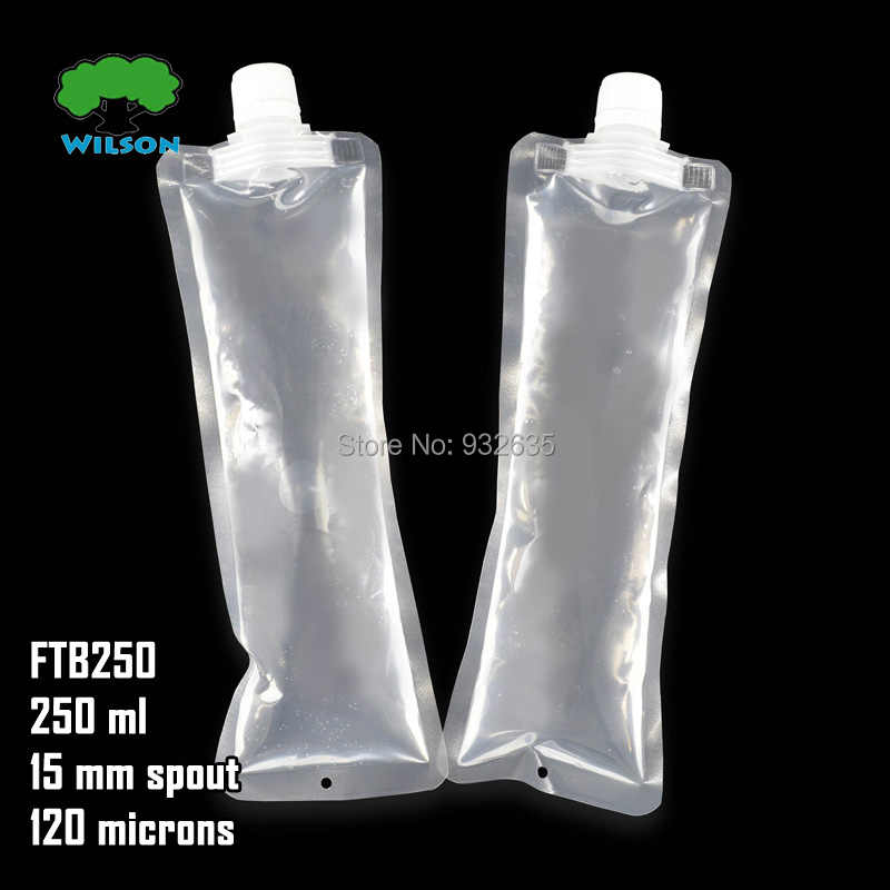 FTB-250 (250ML)  MOQ  20 PCS Spout Flat Bag Spout Pouch Size 230mm Party DIY Fill Juice,Sauce.Milk,Beverage, Jelly,Free Shipping