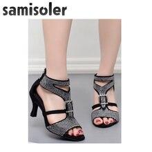 Женские туфли для латиноамериканских танцев samisoler с черными