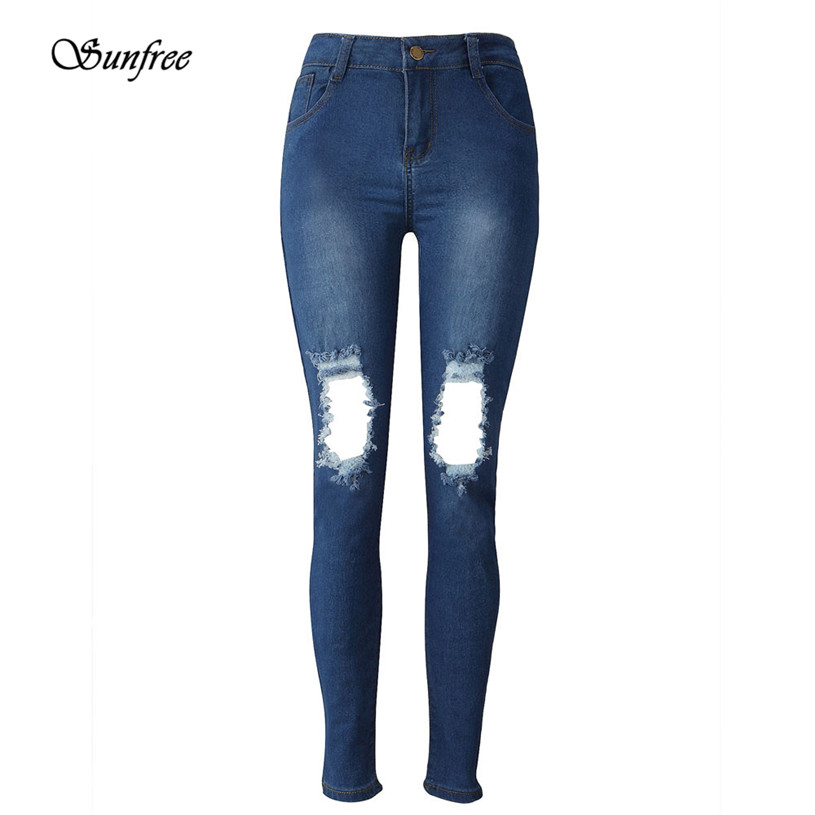 Sunfree 2016 Hot Sale Womens Denim Skinny Jeans Stretch Pencil Trousers Slim Long Pants Brand New High Quality Dec 7 facotry price ladies womens denim skinny jeans stretch pencil trousers slim long pants high quality women trousers dec 15