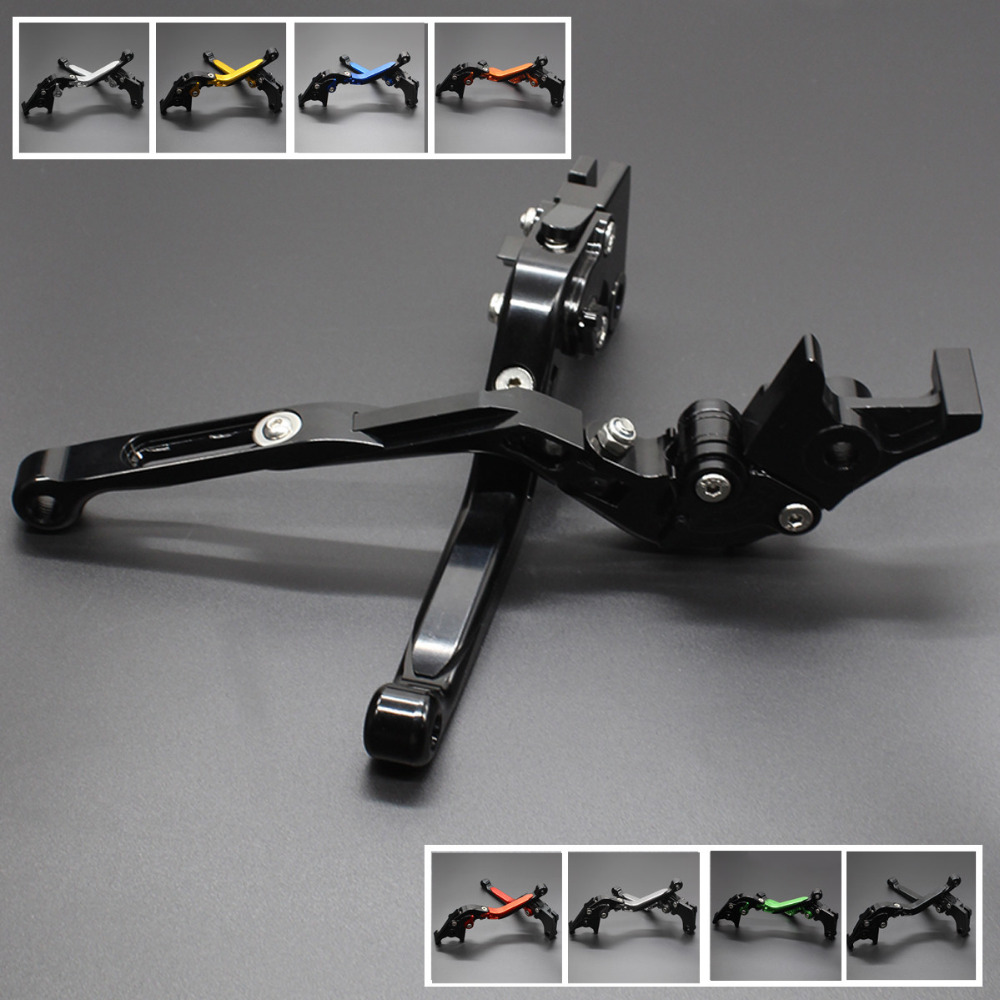 FX CNC Foldable Extendable Motorcycle Brake Clutch Lever For Kawasaki Z750 2007-2012 Z800E Version 2013-2016 Moto Accessories