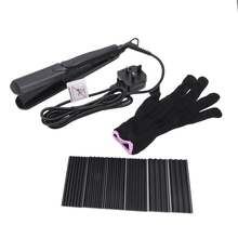 4 In 1 Hair Straightener Electric Splint Corn Whisker Plate Changeable Perm Wave Curler