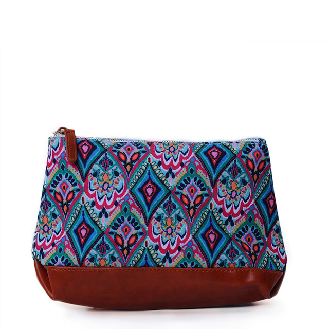 Personalize Makeup Bags Southern Women Fashion Cosmetic Bags Faux Leather Bottom Zipper Pouch Bag( Can Be Embroidery)