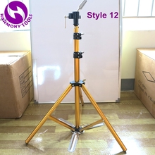 Tripod-Clamp Hairdressing Wig Mannequin-Heads Floor-Stand Training LF-1072 Gold-Pedal