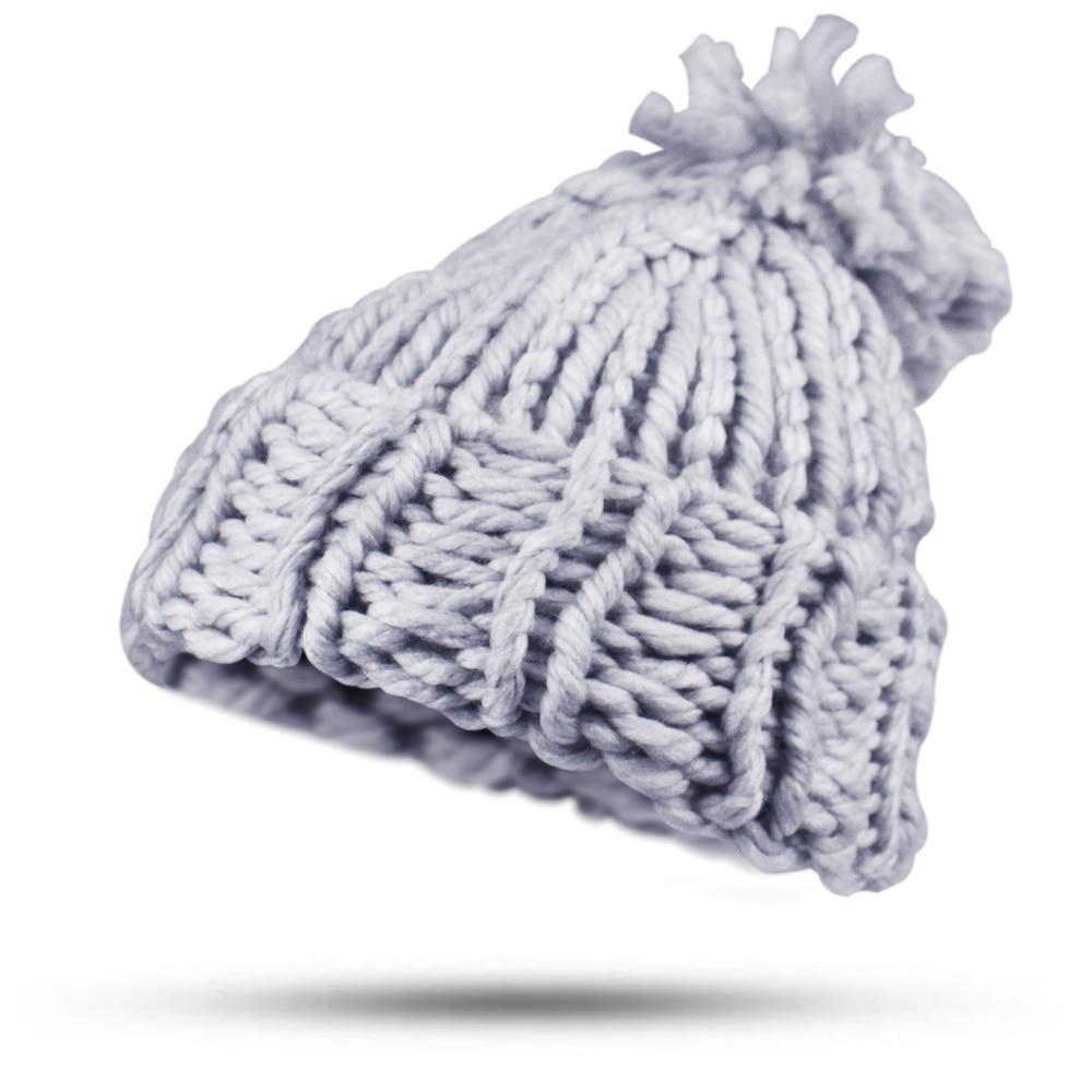2017 Pompom Winter Knitted Hat For Women Girls Cap Casual Streetwear Skullies Beanies Elegant Warm Handmade Bonnet black Hats цена и фото