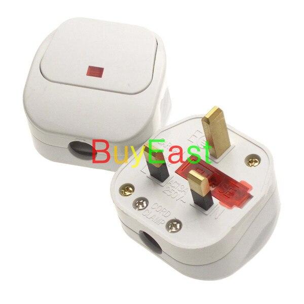 ᑐ2 x Reino Unido, Irlanda, Malasia, Singapur, HK rewireable plug ...