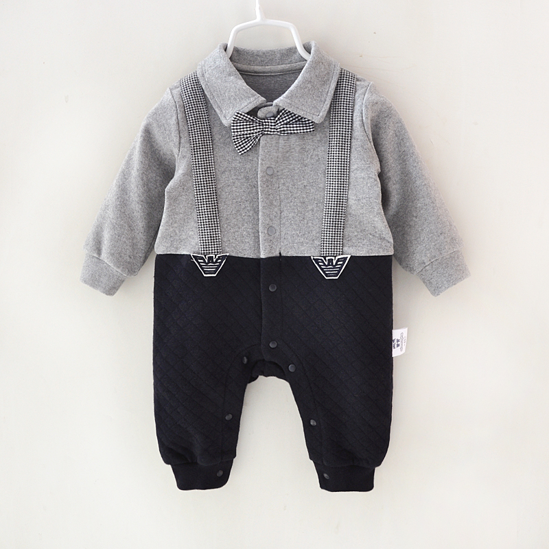 Newborn Baby Rompers Clothes Cotton Suits Infant Jumpsuit Outwear Gentleman Baby Boys Jumpsuit Clothing 2016 fashion baby boys girls rompers brand clothes cotton infant vest no sleep print romper 0 24m newborn jumpsuit baby clothing