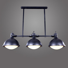 1/3 Cabezas de Antiguas Loft Style Industrial País de América Vendimia Polea Colgante Luces Moderno Comedor Lámpara Colgante WPL169