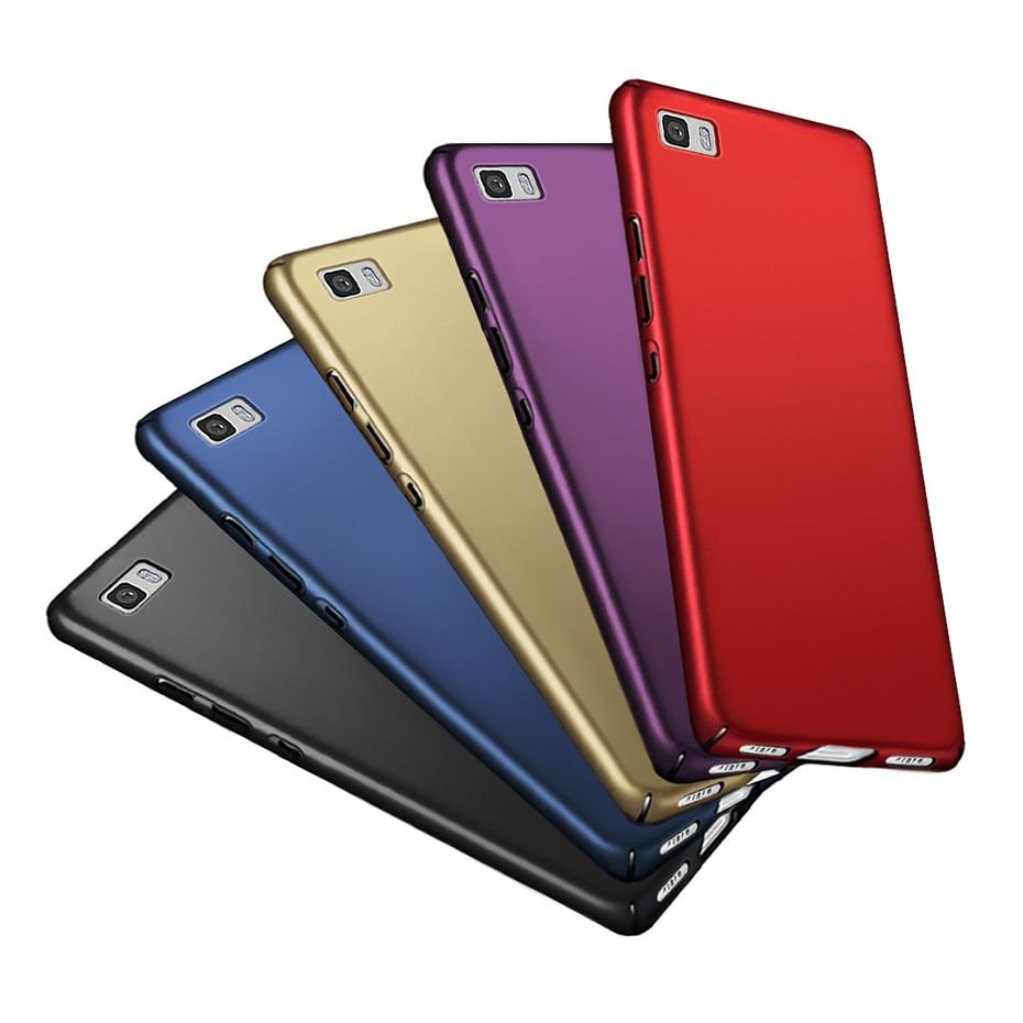 Étui pour Huawei P8 Lite 2016 étui de luxe en plastique dur étui pour téléphone P 8 Lite pour Huawei Ascend P8 Lite Coque noir Capas