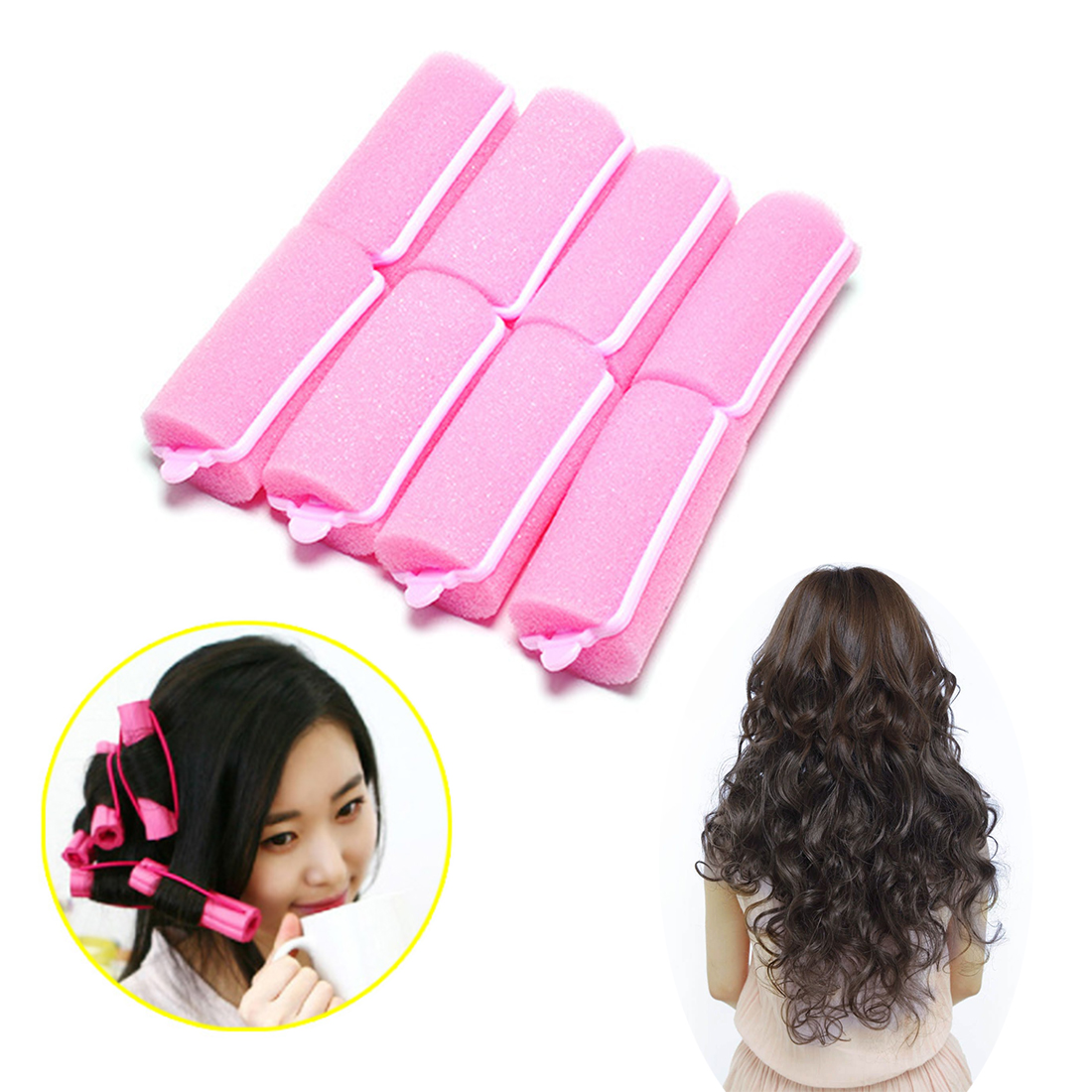 14 Pcs 12pcs 10pcs 8pcs 6pcs Hair Curler Magic Sponge Foam Cushion Hair Styling Rollers Curler Twist Tool for Women Girls in Women 39 s Hair Accessories from Apparel Accessories
