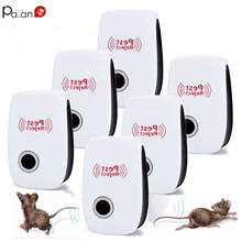 2pc Ultrasonic Pest Repeller Mosquito Killer Ultrasonic Bug Repelant Electronic Rat Mouse Repellent Electro Pest Control Reject цена и фото