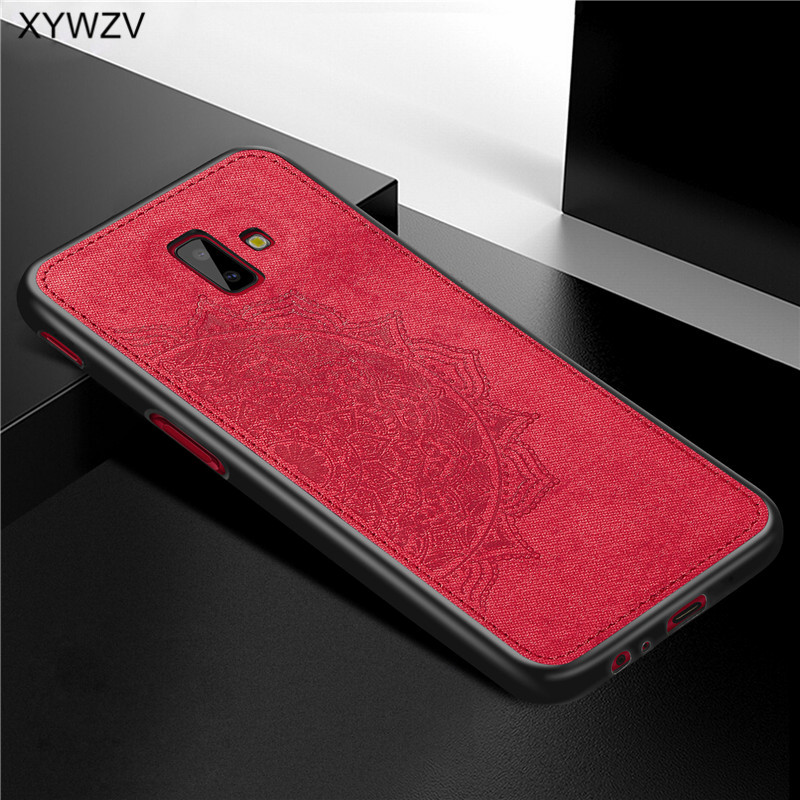 Image 2 - For Samsung Galaxy J6 Plus Case Shockproof Soft Silicone Luxury Cloth Texture Case For Samsung J6 Plus Cover For Samsung J6+-in Fitted Cases from Cellphones & Telecommunications