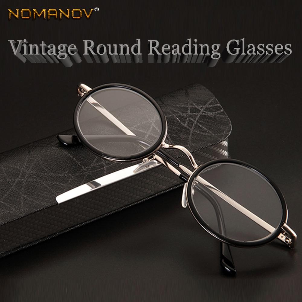 Мужские и женские очки для чтения NOMANOV = круглые винтажные очки в стиле ретро с многослойной оправой из сплава, роскошные очки для чтения + 0,75 ...