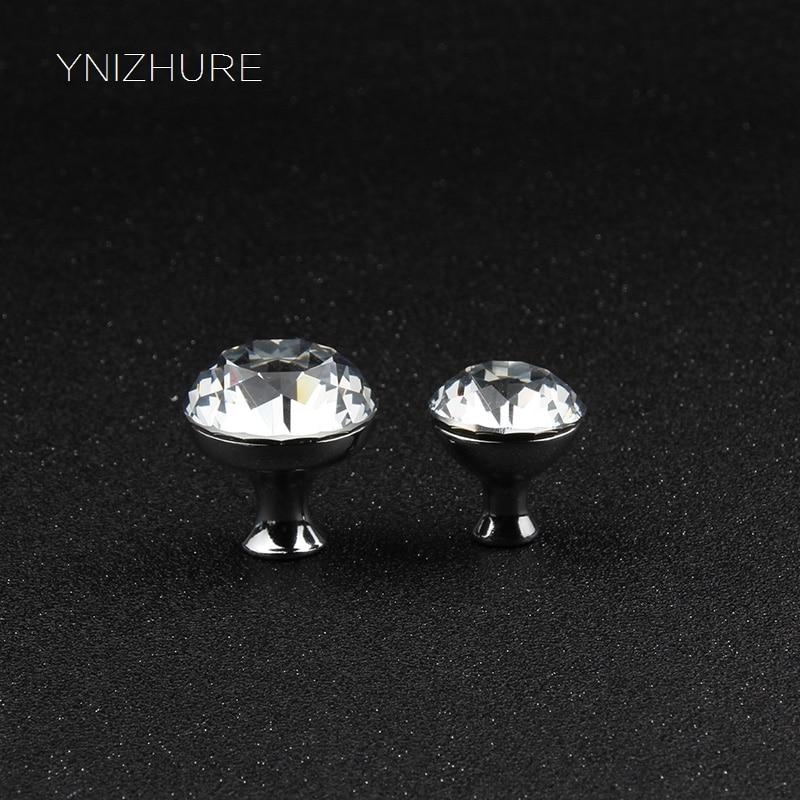 Cabinet Pulls Intelligent Top Grade10pcs/lot 25-30mm Clear Diamond Shape Crystal Glass Pull Handle Cupboard Cabinet Drawer Door Furniture Knob Yz-1015