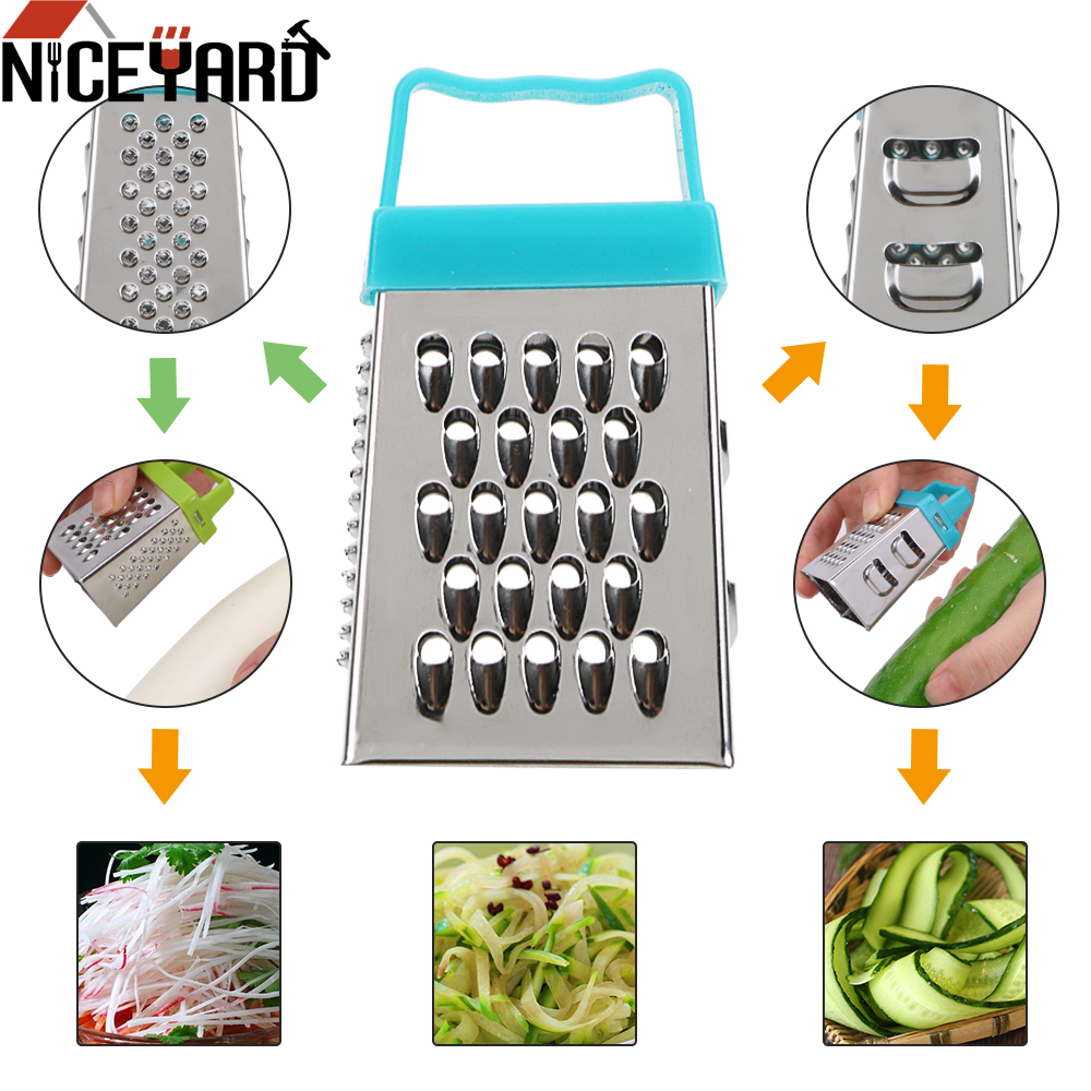 NICEYARD 7*3.5CM Mini 4 Sides Grater Fruit Vegetable Tool Multifunction Handheld Slicer Kitchen Tool Gadget