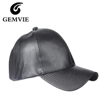PU Leather Solid Baseball Hats For Women And Men 2016 Autumn Winter Casual  Black Blue · 2 Colors Available a81b244a3209