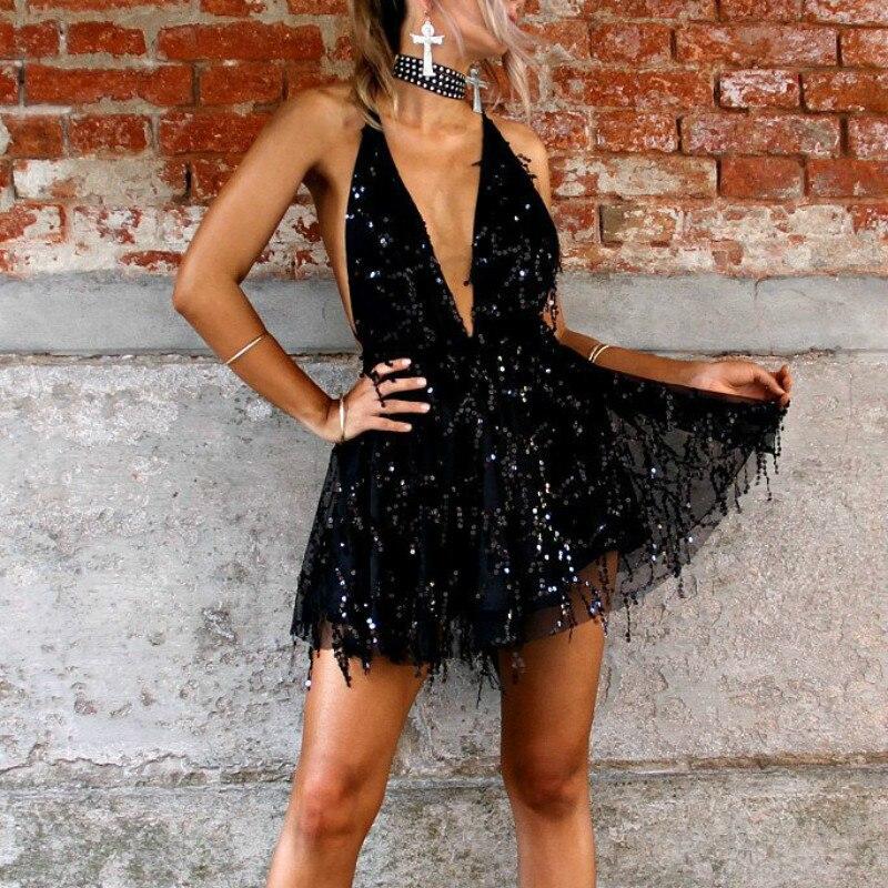 Backless Halter Mini Dress 4