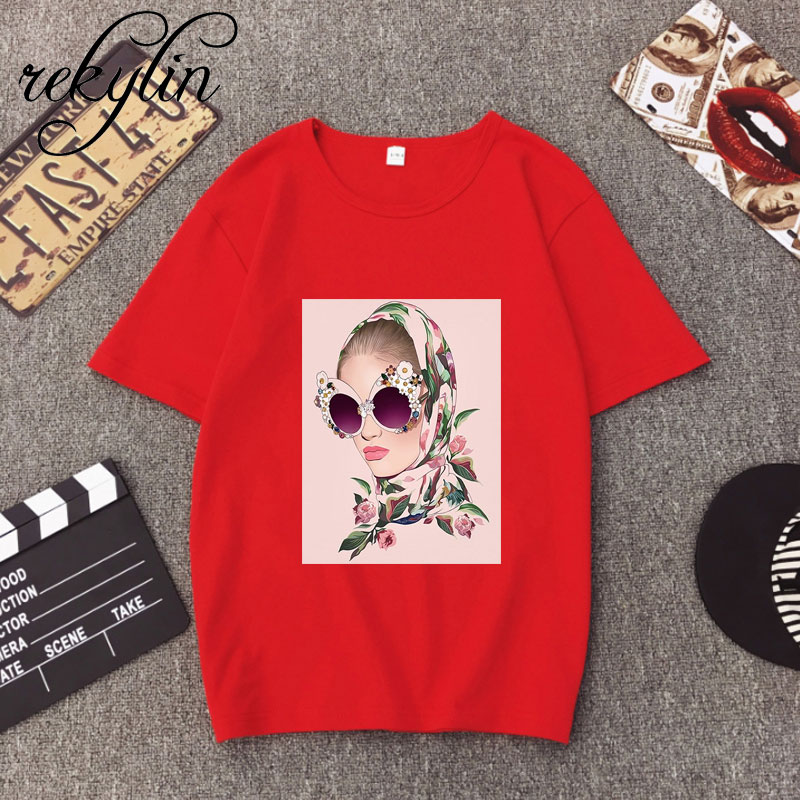 Ulzzang Aesthetic Funny Tshirt Abstract Flowers 100 Cotton O Neck T Shirt Plus Size Short Sleeve Brand Female T Shirt Femme in T Shirts from Women 39 s Clothing