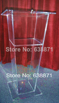 Free Shiping European Design Factory Sell Clear Acrylic Podium Pulpit Lectern