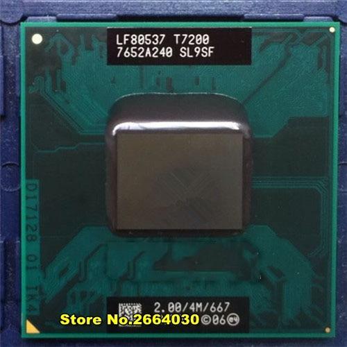 T7200 7200 SL9SF CPU 4M Socket 479 (Cache/2.0GHz/667/Dual-Core) Laptop processor