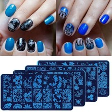 1Pc Nail Stamping Plates Lace Series Stainless Steel Art DIY Polish Print 10 Styles Template RE2#